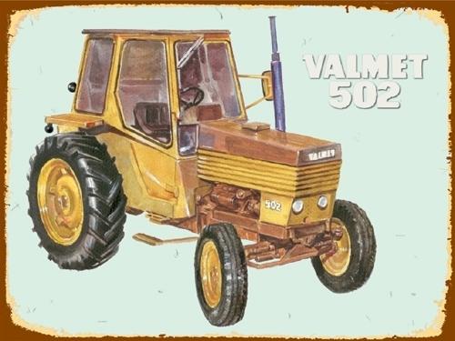 Peltikyltti, Valmet 502 -traktorista